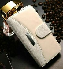 Cream PU Leather (For: Apple iPhone 4/4S) Fashion Phone Flip Case Stand Cover AU