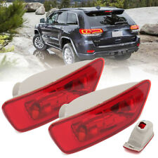 2Pc Rear Tail Fog Light Lamp Cover Housing For Jeep Compass Grand Cherokee 11-16