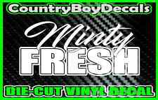 MINTY FRESH Vinyl DECAL Sticker TRUCK Car Lifted Boosted Turbo Diesel Boost