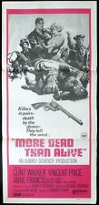 MORE DEAD THAN ALIVE Clint Walker Original daybill Movie Poster Vincent Price