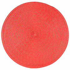 33cm Round Red Woven Fabric Placemats Table Setting Place Mats Dining Room 6 X Placemats