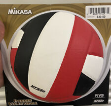 NEW! MIKASA Official INDOOR FIVB Volleyball black white red Game Ball