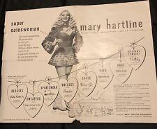 Original MARY HARTLINE ENTERPRISES Brochure, Personalized Autographed To Buyer