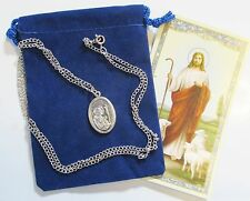 St. Charles Borromeo Saint Medal with 24 Inch Necklace