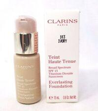 Clarins Everlasting Foundation SPF 15 ~ 103 Ivory ~ .6 oz. ~ BNIB