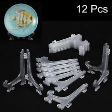 """Lot of 12 Display Stand 5"""" Picture Photo Art Plastic Foldable Easel Plate Holder"""