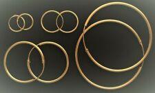 Creolen vergoldet Silber 925 Gold Ohrringe 1 Paar 1, 1,5, 2,5, 3, 4, 5, 6, 7 cm