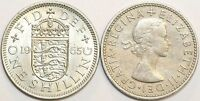 1953 to 1966 Elizabeth II Cupro-Nickel English Shilling Choice of Date / Year