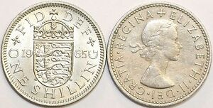 1953 to 1966 Elizabeth II Cupro-Nickel English Shilling Choice of Date / Year