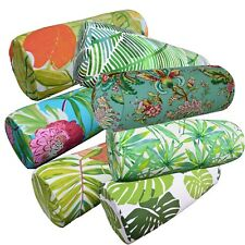 Bolster Cover*A-Grade Cotton Canvas Neck Roll Tube Yoga Massage Pillow Case*Lf5
