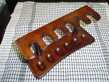 More details for pipe rack dark walnut finish six pipe spaces