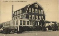 Branford CT Indian Neck Waverly Inn Postcard