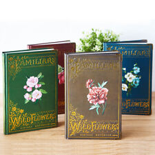 """""""Wild Flowers"""" 1pc Hard Cover Diary Vintage Notebook Journal Stationery Gift"""