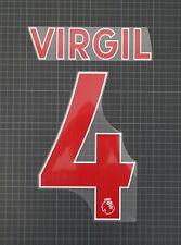 Official Avery Dennison VIRGIL VAN DIJK #4 2019-2021 Premier League Nameset Red