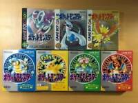 GameBoy 7 Pokemon set Green Red Yellow Blue Silver Gold Crystal GB GBC from jp