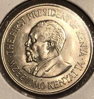 1971 Kenya 1 Shilling High Grade BU Copper-nickel Collectible Coin KM#14