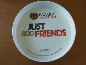 BACARDI RUM TOGETHER DRINKS TRAY JUST ADD FRIENDS