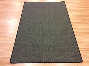 Crucial Trading Linen N Wool WL778 Dark Grey EASYCARE Carpet Rug 140x200cm 60%OF