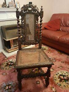 Antique Barley twist Chair..OAK/ELM