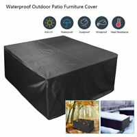 Waterproof Indoor/Outdoor Patio Furniture Cover Square Garden Rattan Table Cover