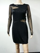 NEW - ONYX Nite - Size 6 - Spaghetti Strap Crystal Trim Dress - Black - $119