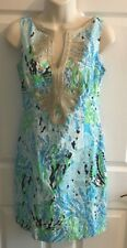 NWT LILLY PULITZER JANICE DRESS Spa Blue Let's Cha Cha 8, EUC Size 0 or size 10