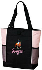 Dressage Embroidered Panel Tote