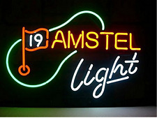"""New Amstel Light 19th Hole Neon Sign 17""""x14"""""""