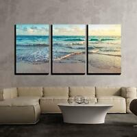 "Wall26 - Sunrise on Atlantic Ocean - Canvas Art Wall Decor - 24""x36""x3 Panels"