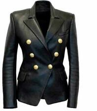 Kim Kardashian Women's Black Double Breasted Slim Fit Jacket Blazer