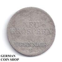 1 Nueva Moneda de Diez Centavos 10 Peniques 1856 Para - Reino Sajonia - Saxonia