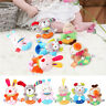 Baby Cartoon Animal Rattle Newborn Hand Grasp Toys Soft Plush Infant Crib Dolls