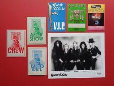 "GREAT WHITE,promo photo,6 ""OTTO""Backstage passes,RARE tour Originals"