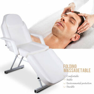 Adjustable Salon Barber Chair Spa Tattoo Chair Massage Table Folding Facial Bed