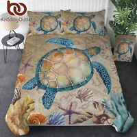 Kids 3D Sea Animal Turtle Design Twin Bedding Set Comforter Cover Pillowcase