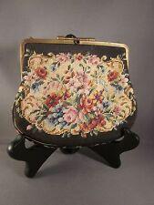 PURSE HANDBAG Vintage AUSTRIA NEEDLEPOINT Ladies Chain Small Multi-Color