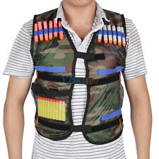 Tarnung Jacke 12 Darts Drew Zubehör Green Nerf N-Strike Adjustable Tactical Vest