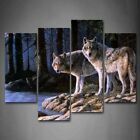 Wall Art Canvas Wolf Home Decor Animal Wildlife Gift Picture Office Gift New