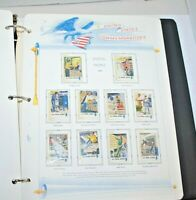 U.S. COMMEMORATIVE STAMP ALBUM---1972-1979-----383 ALL MINT STAMPS!  54 PAGES