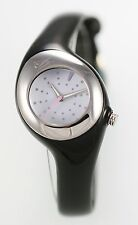 NIke Triax Smooth Black Ladies Sport Easy Read 50m WR White Quartz Watch WR0070