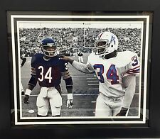 Earl Campbell Signed Autographed w/ Walter Payton Framed Photo JSA Authentic