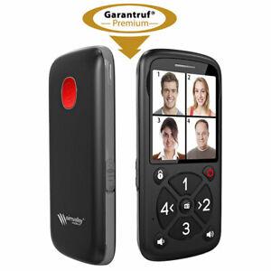 5-Tasten-Senioren- & Kinder-Handy mit Garantruf Premium, LED und Radio