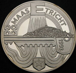 NETHERLANDS 25 Ecu 1993 Proof - Silver - Maastricht Treaty - 865 ¤