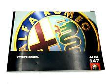 Nuovo di Zecca ORIGINALE ALFA ROMEO 147 GTA proprietari manuale in francese 60431319