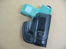 Sig Sauer P 365 Tuckable IWB Leather Inside Waistband Conceal Carry Holster BLK