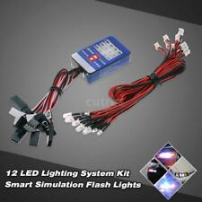 12 LED Lighting System Kit Smart Simulation Taschenlampen für 1/10 Scale RC S3T1