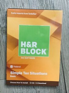 H & R Block Simple Tax Situations Basic Tax Software 2018 Windows & Mac Federal