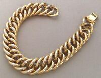 bracelet vintage couleur or patiné par le temps rhodié maille gourmette 507