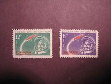 North Vietnam Stamp Scott# 160-61  Gagarin & Rocket 1961 MNH C48B4