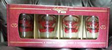 LAKEMAID BEER GLASSES PUB SET 4 PACK POCKET HERCULES SCHELL'S RAPALA NEW IN BOX